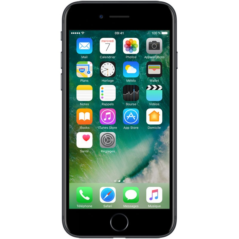 iPhone 7 128 Go Noir (1 an de Garantie)