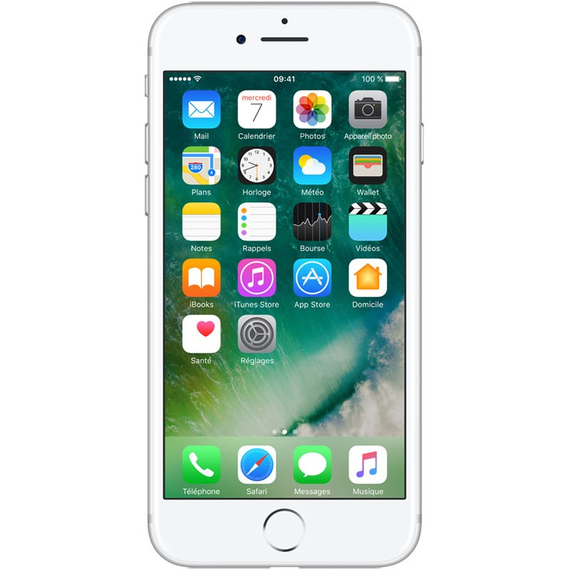 iPhone 7 128 Go Silver (1 an de Garantie)
